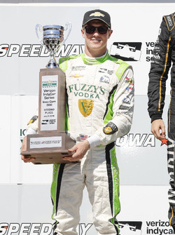 Spencer Pigot, Ed Carpenter Racing Chevrolet, podyumda