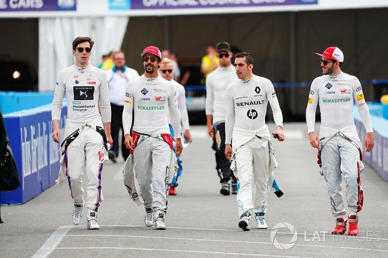 Alex Lynn, DS Virgin Racing,Lucas di Grassi, Audi Sport ABT Schaeffler, Sébastien Buemi, Renault e.Dams, Daniel Abt, Audi Sport ABT Schaeffler