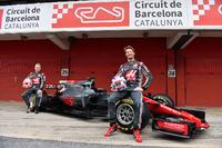 Гонщики Haas F1 Team Ромен Грожан и Кевин Магнуссен, автомобиль VF-17