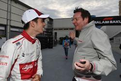 Charles Leclerc, Sauber altıncı sırayı kutluyor