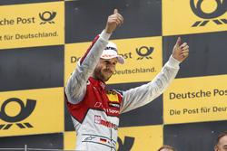 Podium: le vainqueur René Rast, Audi Sport Team Rosberg, Audi RS 5 DTM