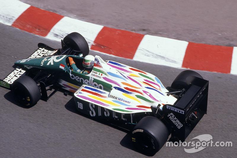 ... Benetton in der Saison 1986, ...