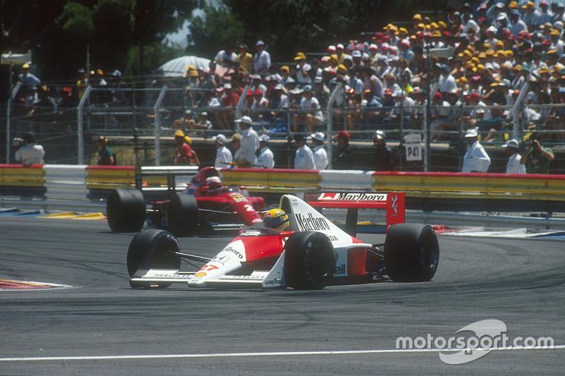 Senna pakt Mansell