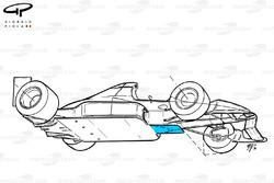 Сплиттер Tyrrell 019 1990 года