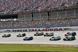 Action im Training in Talladega