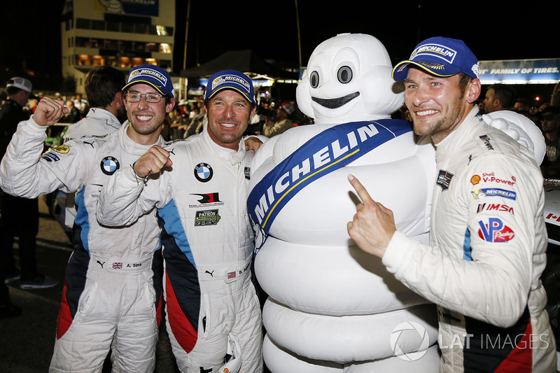 Переможці у категорії GTLM Білл Оберлен, Александр Сімс, Куно Віттмер, BMW Team RLL