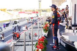 Third place Daniel Ricciardo, Red Bull Racing, on the podium