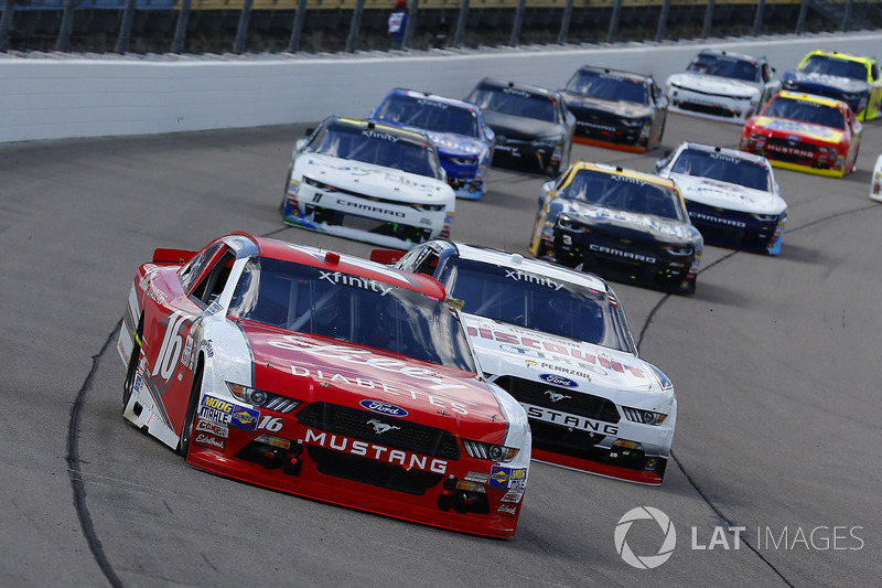 Ryan Reed, Roush Fenway Racing Ford y Sam Hornish Jr, Discount Tire Ford Mustang