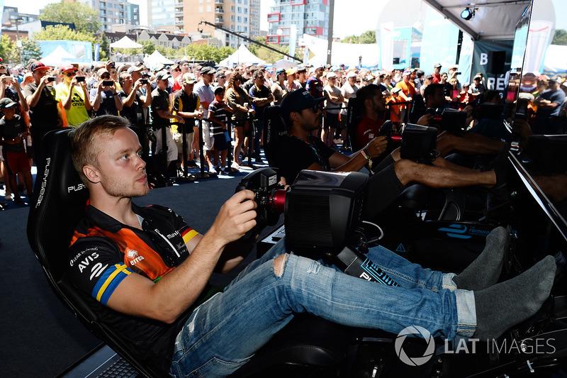 Felix Rosenqvist, Mahindra Racing, en la eRace