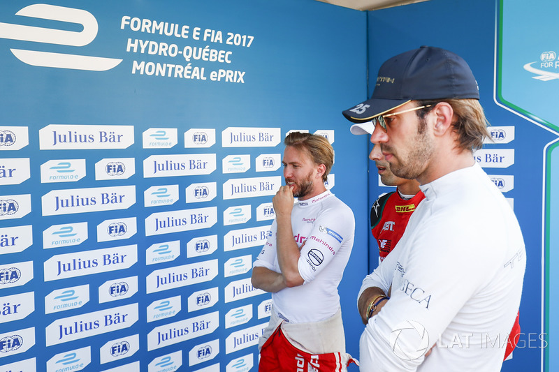 Nick Heidfeld, Mahindra Racing, and Jean-Eric Vergne, Techeetah