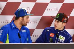 Andrea Iannone, Team Suzuki MotoGP; Maverick Viñales, Yamaha Factory Racing