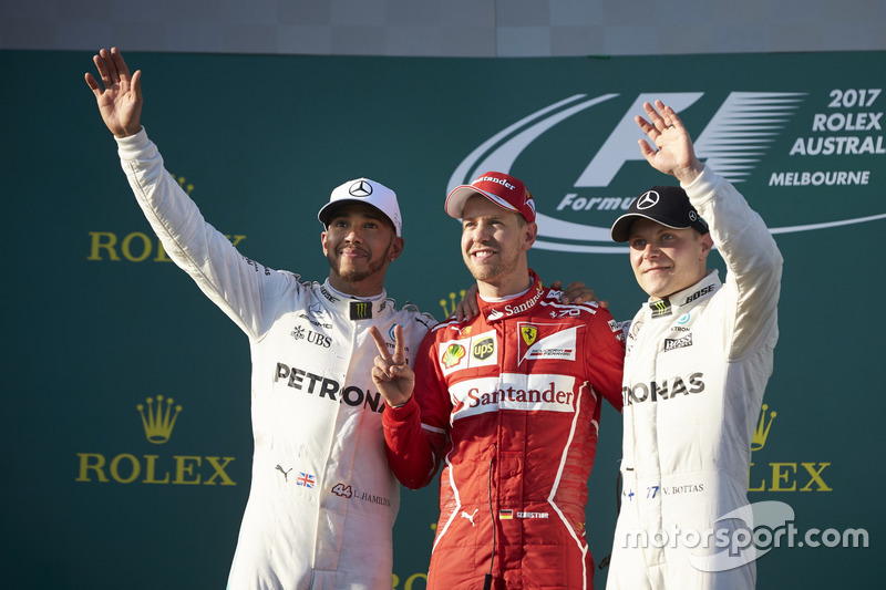 Lewis Hamilton, Mercedes AMG, Sebastian Vettel, Ferrari, Valtteri Bottas, Mercedes AMG