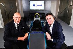 Глава маркетингового управления и распространения группы Allianz Жан-Марк Пайоль и руководитель Formula E Holdings Алехандро Агаг