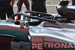 Mercedes-Benz F1 W08, with HALO cockpit protection
