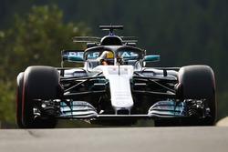 Lewis Hamilton, Mercedes AMG F1 W08, mit Halo