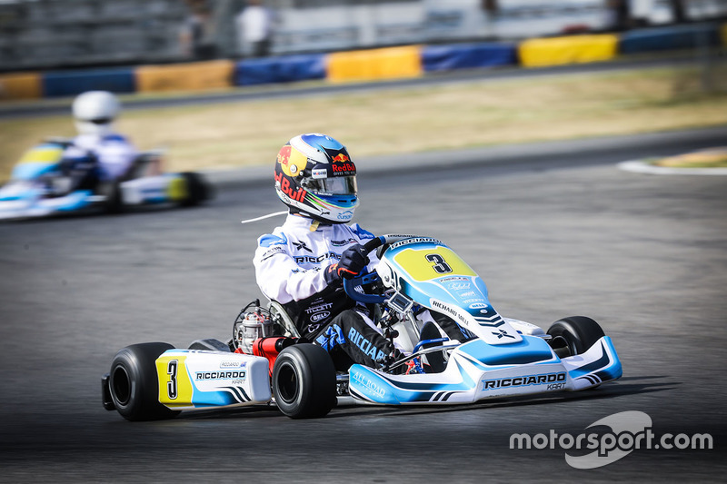 Daniel Ricciardo, Red Bull Racing, races a kart