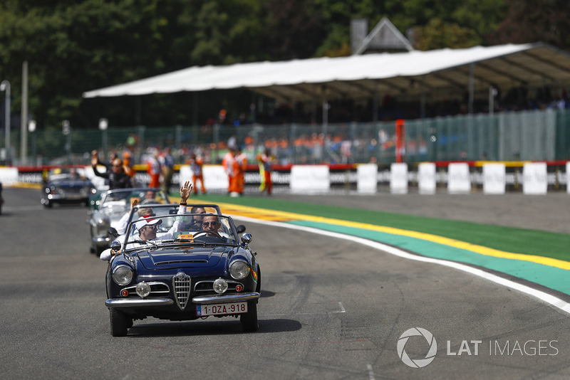 Charles Leclerc, Sauber, on the drivers' parade
