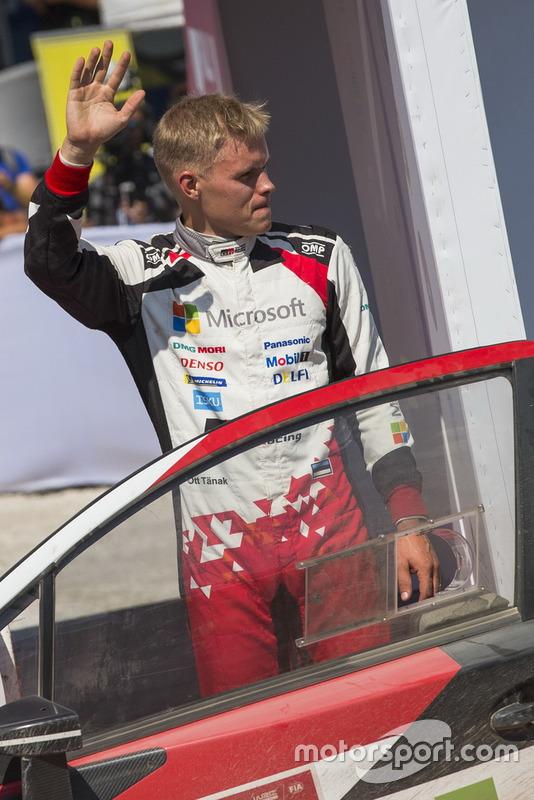 Il vincitore Ott Tänak, Toyota Gazoo Racing WRT Toyota Yaris WRC