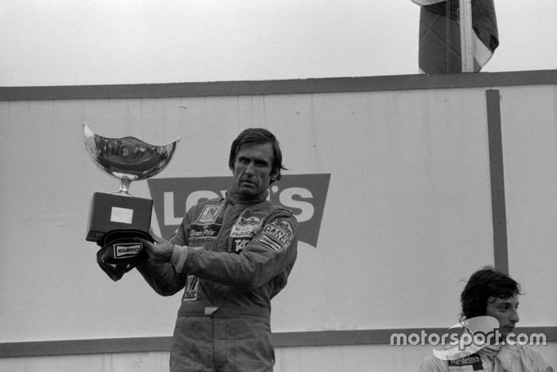 1981. Жакарепагуа. Подіум: 1. Карлос Ройтеманн, Williams Ford Cosworth. 2. Алан Джонс, Williams Ford Cosworth. 3. Ріккардо Патрезе, Arrows Ford Cosworth