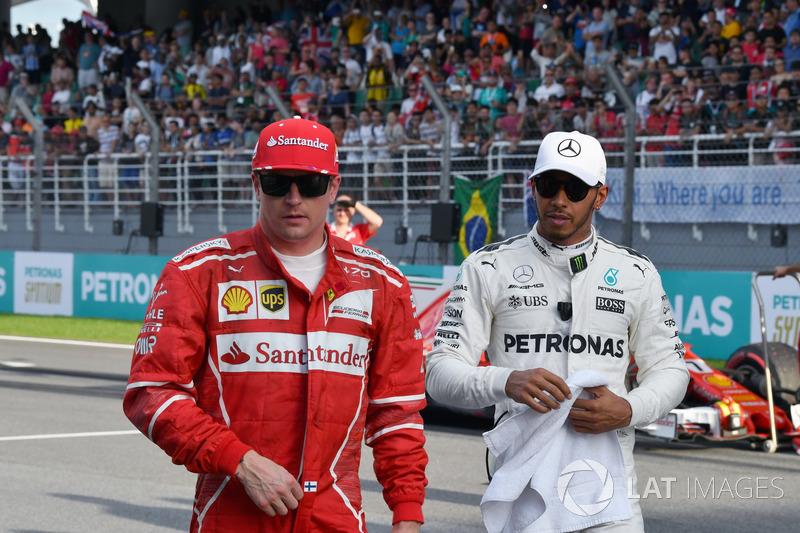 Кімі Райкконен, Ferrari, Льюіс Хемілтон, Mercedes AMG F1
