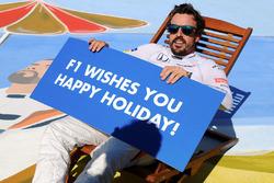 Fernando Alonso, McLaren on a deck chair
