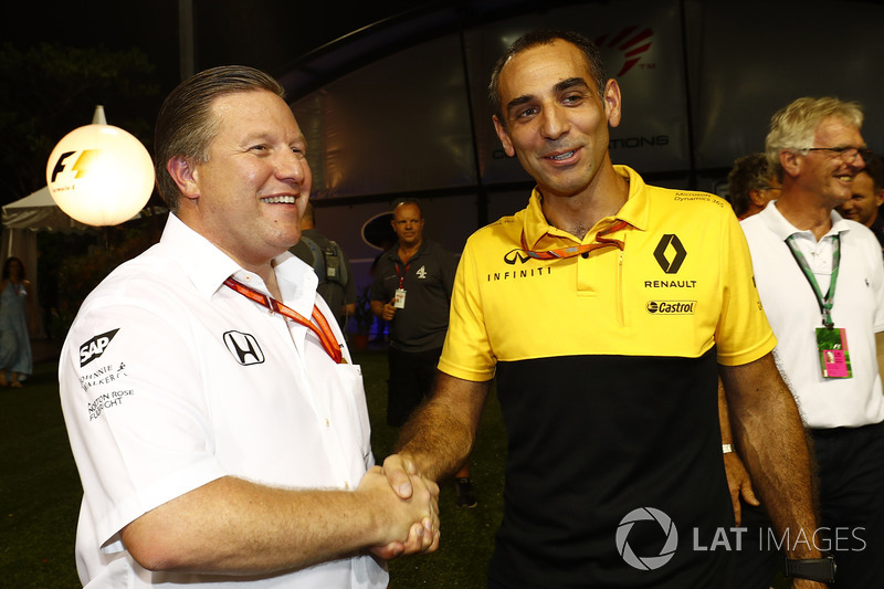 Zak Brown, Executive Director, McLaren Technology Group, Cyril Abiteboul, Managing Director, Renault