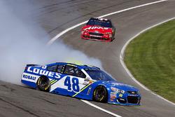 Jimmie Johnson, Hendrick Motorsports Chevrolet loses control in turn 4