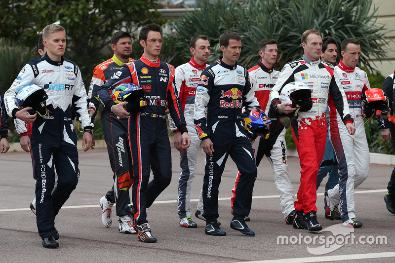 Foto de los pilotos de WRC 2017