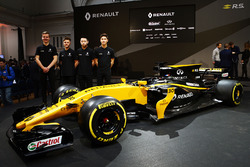 (L to R): Jarno Opmeer, Renault Sport Academy Driver; Max Fewtrell, Renault Sport Academy Driver; Sun Yue Yang, Renault Sport Academy Driver; Jack Aitken, Renault Sport Academy Driver, with the Renault Sport F1 Team RS17