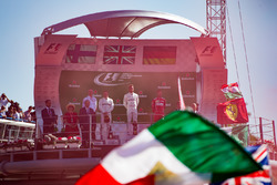Podium: race winner Lewis Hamilton, Mercedes AMG F1, second place Valtteri Bottas, Mercedes AMG F1, third place Sebastian Vettel, Ferrari