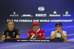 Valtteri Bottas, Mercedes AMG F1 Kimi Raikkonen, Ferrari and Felipe Massa, Williams in the Press Conference