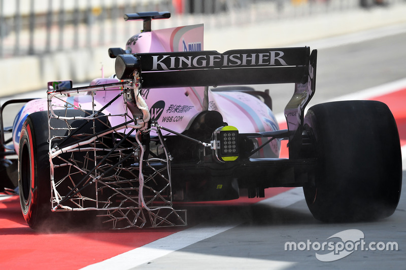 Alfonso Celis Jr., Sahara Force India F1 VJM10 with aero sensor