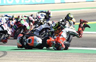 La caduta di Jorge Lorenzo, Ducati Team, alla partenza