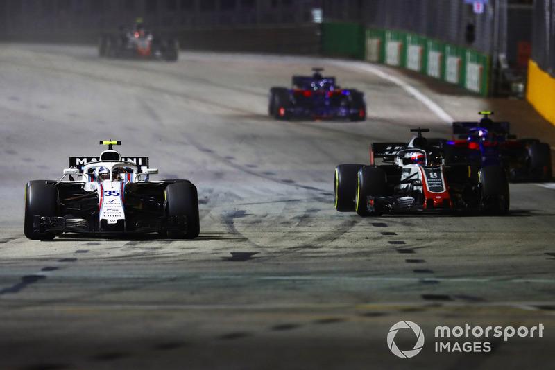 Sergey Sirotkin, Williams FW41, Romain Grosjean, Haas F1 Team VF-18, Pierre Gasly, Scuderia Toro Rosso STR13