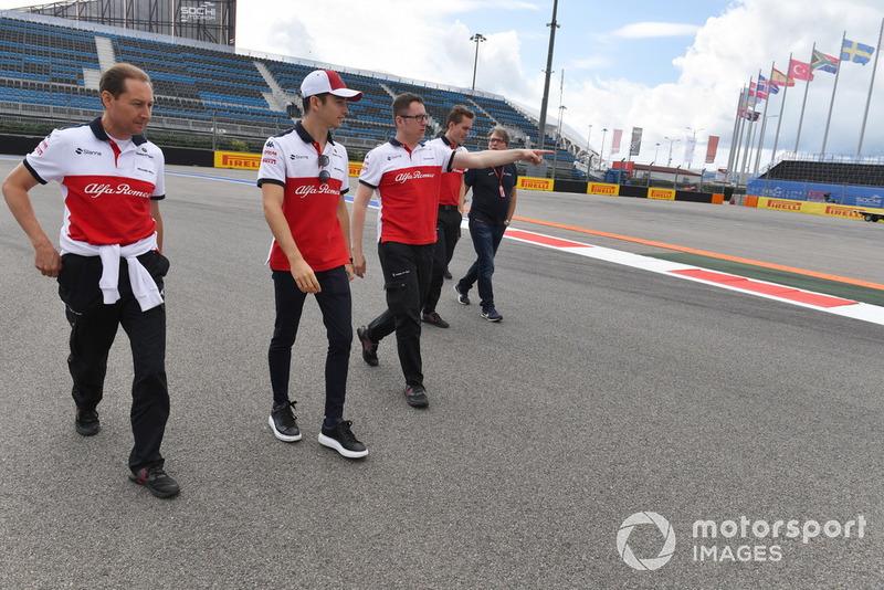 Charles Leclerc, Sauber walks the track