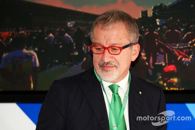 Roberto Maroni, Lombardia Bölge Başkanı, Monza Pist açıklamasında