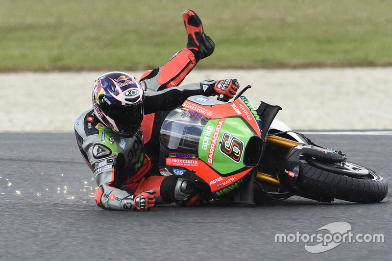 Stefan Bradl, Aprilia Racing Team Gresini, Crash