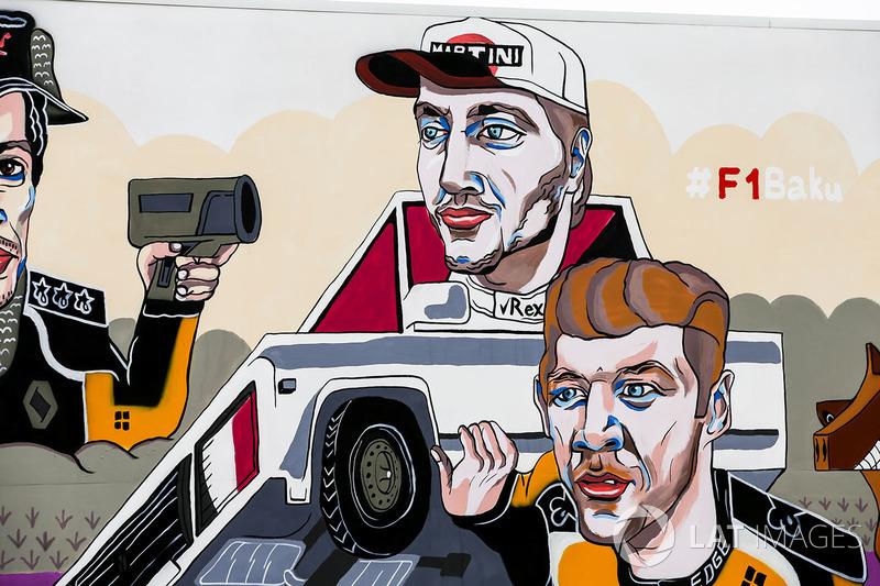Obra que representa a Carlos Sainz Jr., Renault Sport F1 Team, Sergey Sirotkin, Williams Racing y Nico Hulkenberg, Renault Sport F1 Team