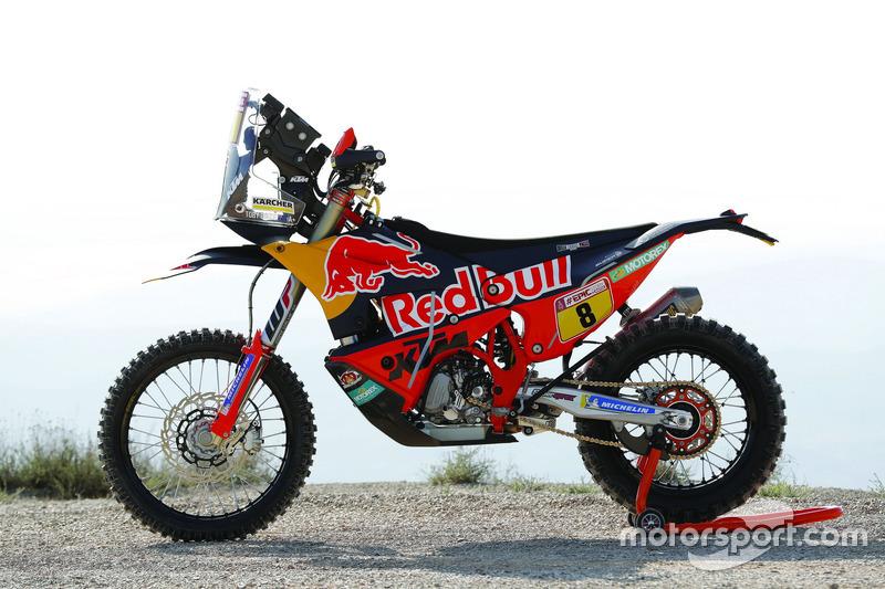 La moto de Toby Price, Red Bull KTM Factory Team