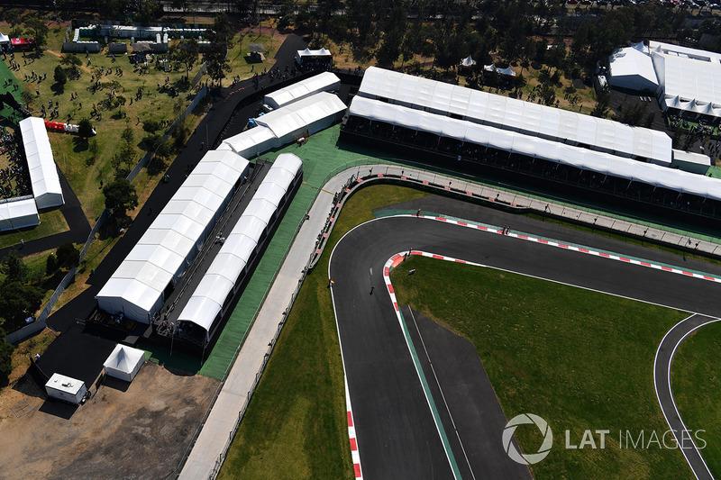 Uma das curvas mais lentas do circuito mexicano