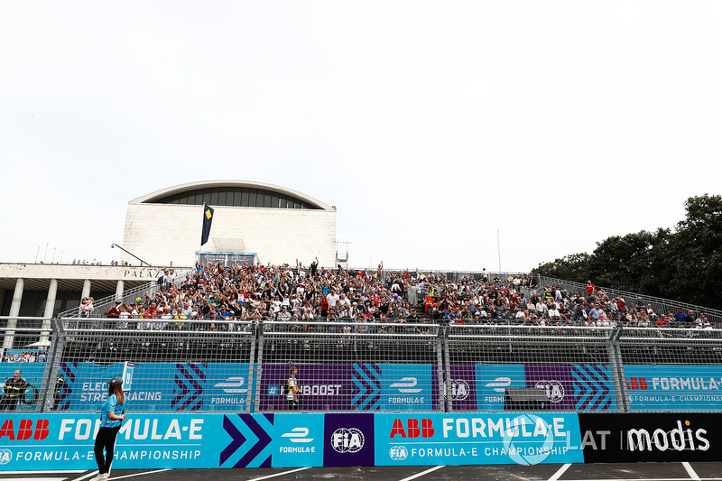 Fans fill the grandstands