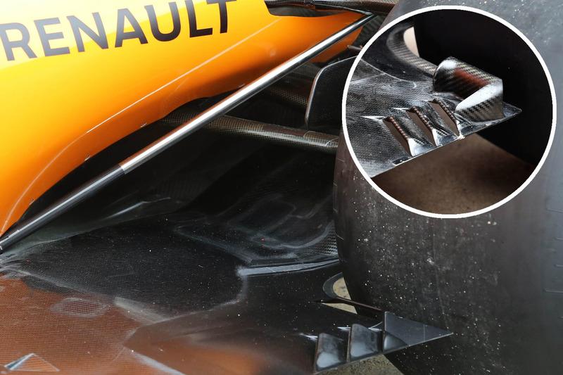 McLaren MCL33, comparación del suelo