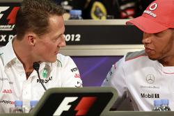 Michael Schumacher, Mercedes AMG en Lewis Hamilton, McLaren