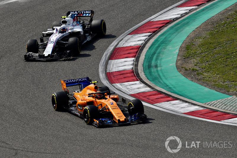 Stoffel Vandoorne, McLaren MCL33 et Sergey Sirotkin, Williams FW41