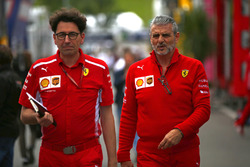 Maurizio Arrivabene, Team Principal, Ferrari, and Mattia Binotto, Ferrari Chief Technical Office