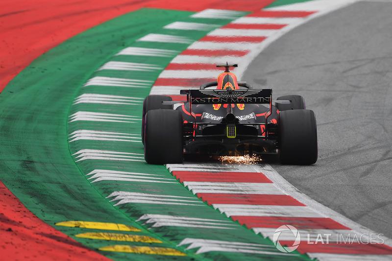 Daniel Ricciardo, Red Bull Racing RB14 sparks