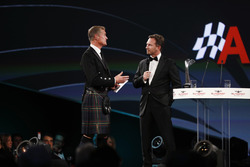 David Coulthard talks to Christian Horner, Team Principal, Red Bull Racing