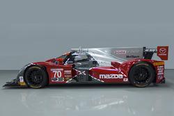 Imagen especial del #70 Mazda celebra el 25 aniversario de la victoria de Mazda en Le Mans