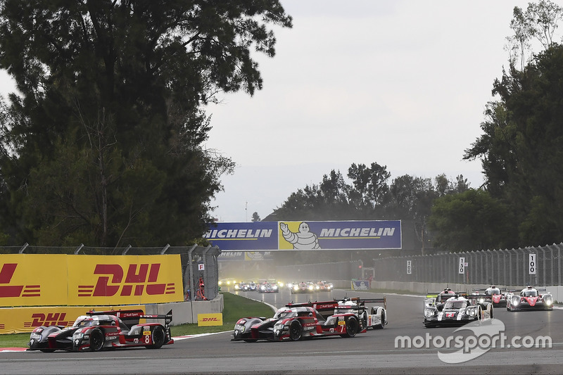 Partenza: #8 Audi Sport Team Joest Audi R18 e-tron quattro: Lucas di Grassi, Loic Duval, Oliver Jarvis al comando