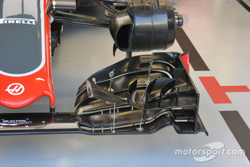 Haas F1 Team VF-16, detail front wing
